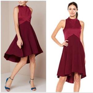 Ted Baker London high-low Burgundy Kandal Dress